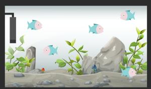 Fische im Mini Aquarium