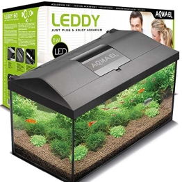 Aquael Aquarium Set LEDDY LED 60, 54 Liter komplett Aquarium mit moderner LED Technik - 1