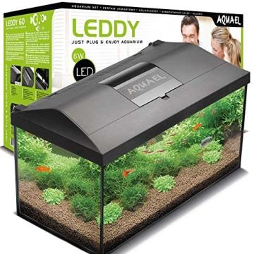 Aquael Aquarium Set LEDDY LED 60, 54 Liter komplett Aquarium mit moderner LED Technik - 1